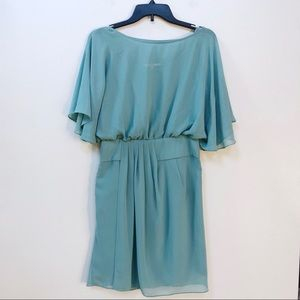 ❤️ Gianni Bini Teal Flutter Sleeve Dress S